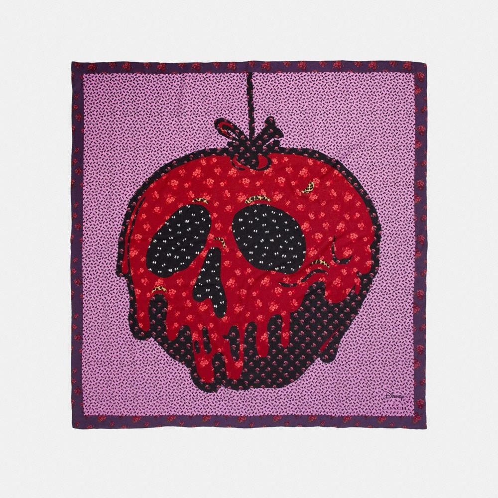 disney x coach poison apple patchwork scarf