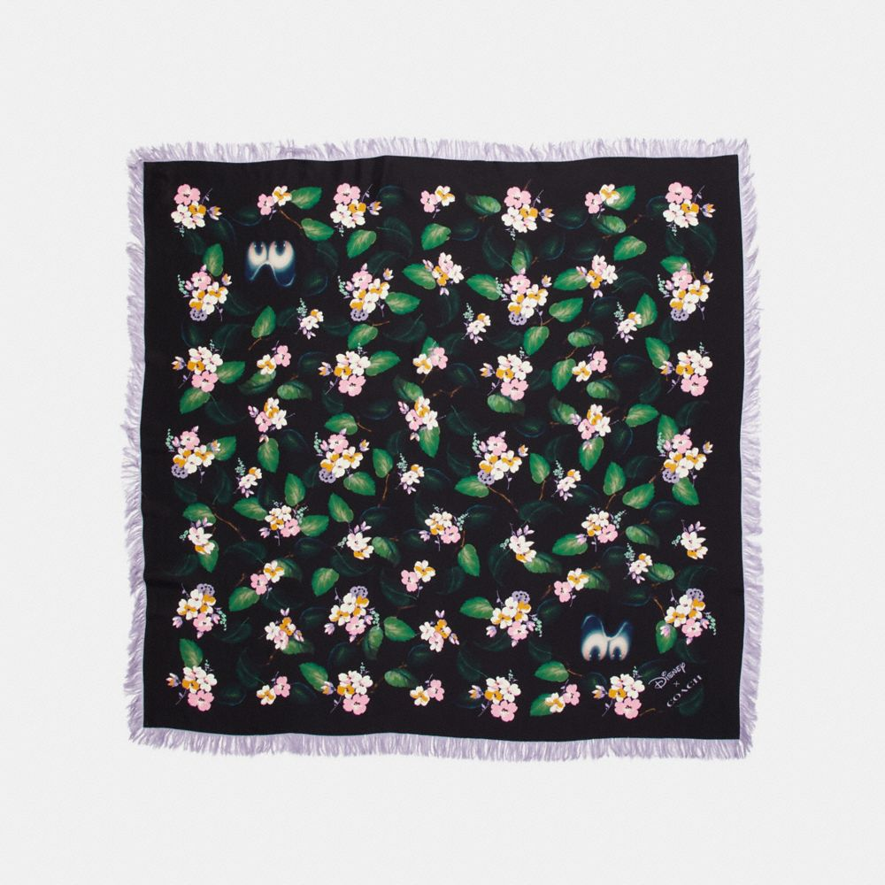 Coach Forest Floral Print Diamond Scarf Coach