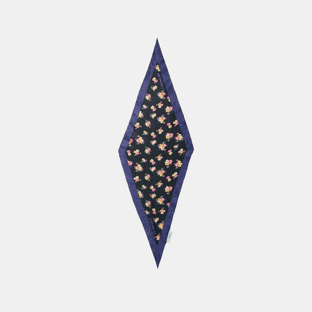 Coach Forest Floral Print Diamond Scarf