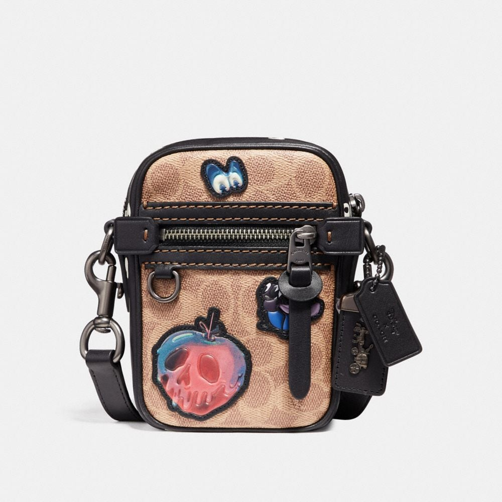 disney x coach dylan 10 in signature patchwork