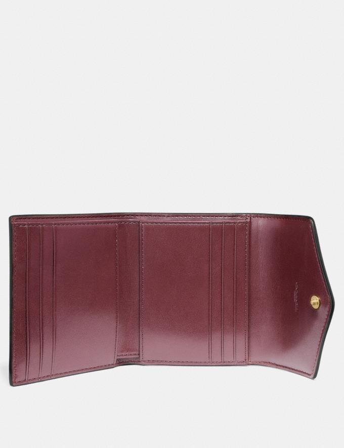 Coach Small Wallet in Colorblock Signature Canvas Tan/Black/Brass Women Wallets & Wristlets Small Wallets Alternate View 1