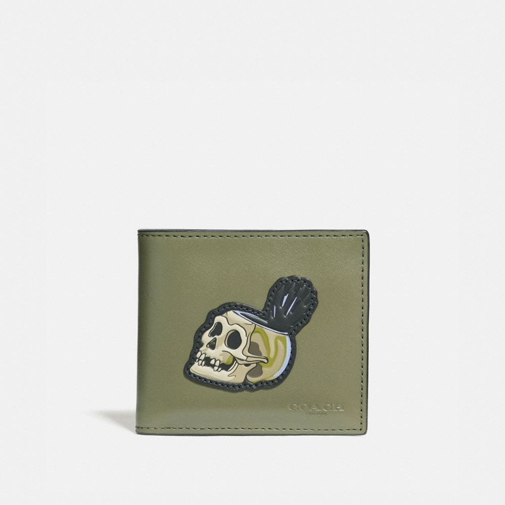 Coach Disney X Coach Double Billfold Wallet With Skull