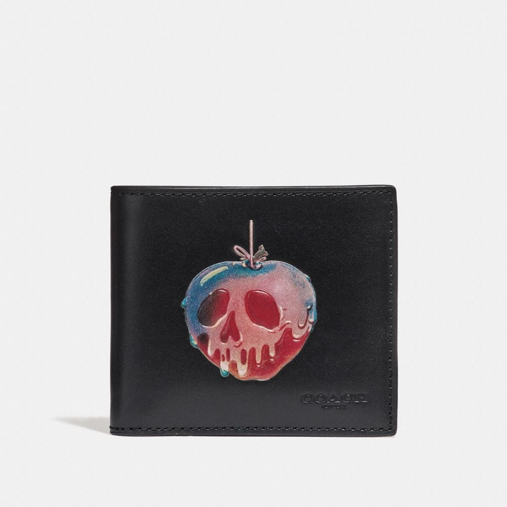 DISNEY X COACH DOUBLE BILLFOLD WALLET WITH  POISON APPLE