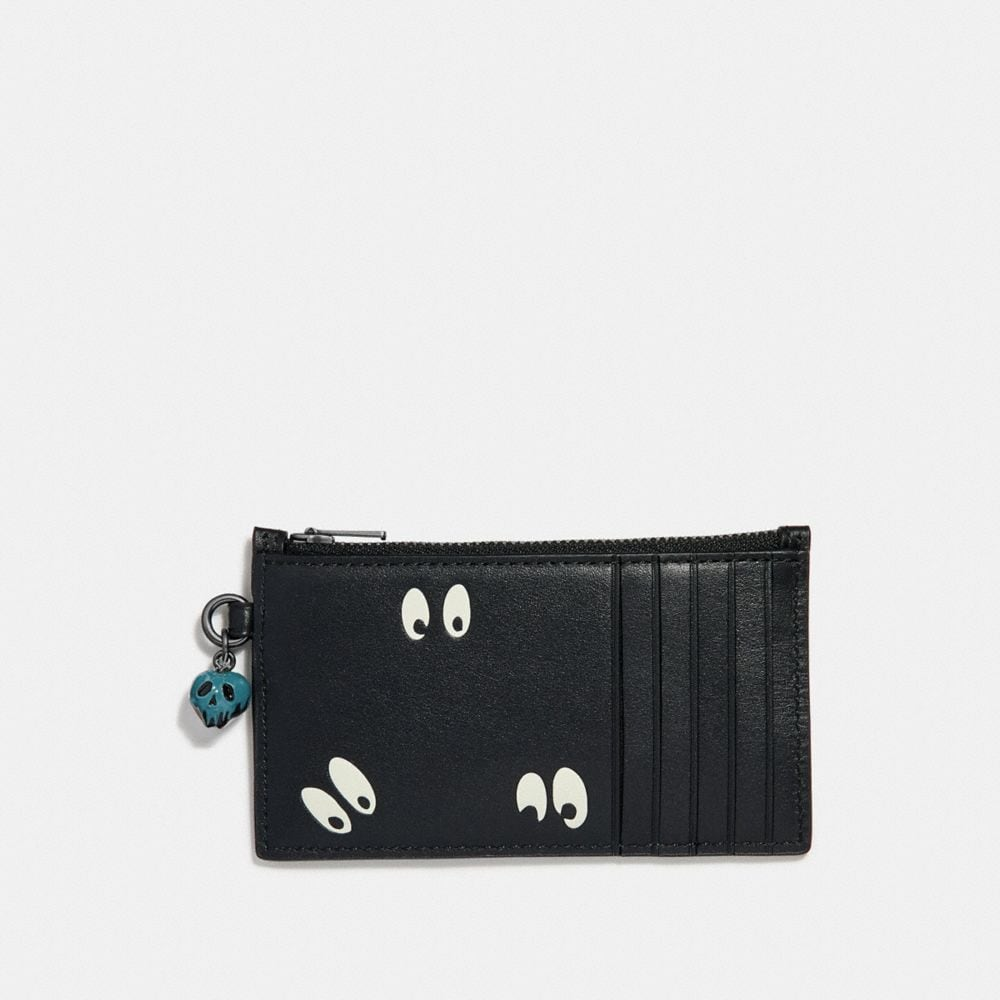 Coach Disney X Coach Zip Card Case With Spooky Eyes Print