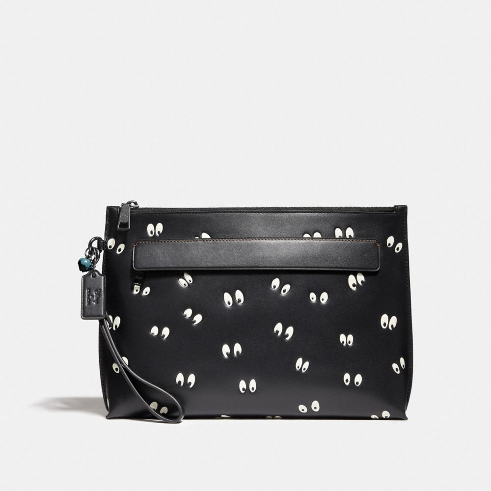 Coach Disney X Coach Carryall Pouch With Spooky Eyes Print