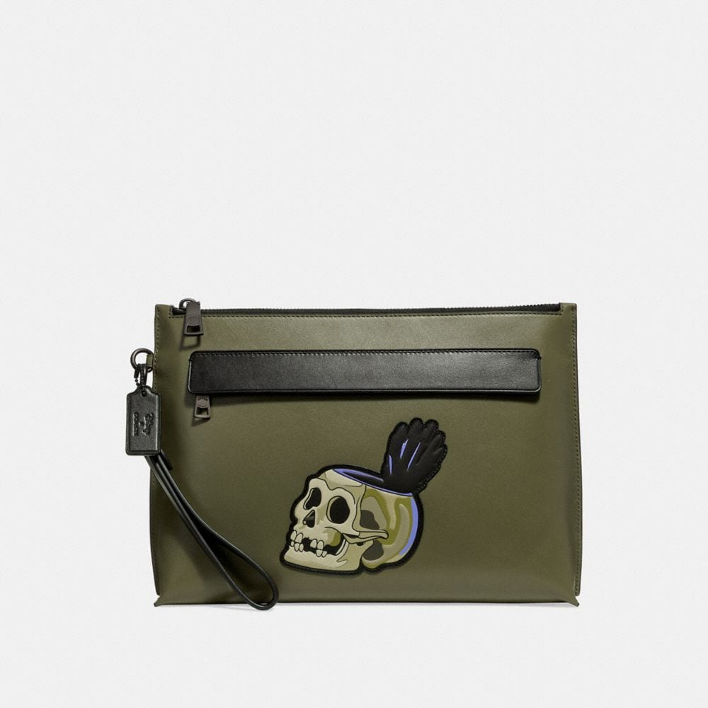 Coach Disney X Coach Carryall Pouch With  Skull