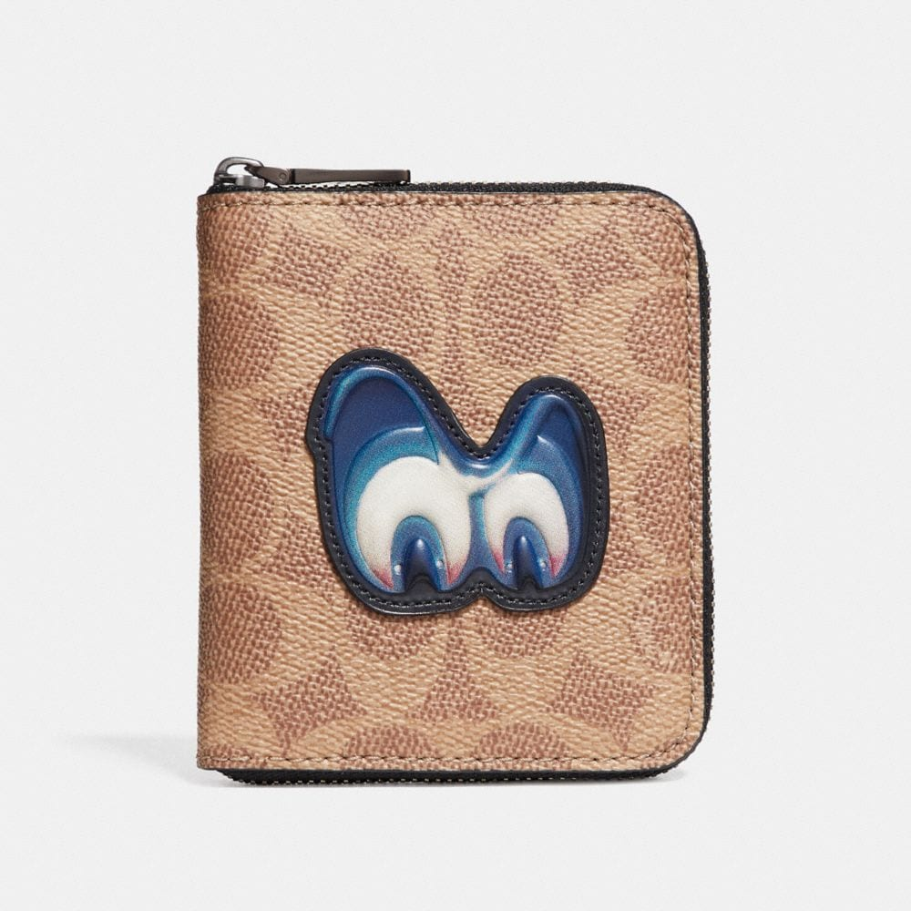 Coach Disney X Coach Small Zip Around Wallet in Signature With Patch