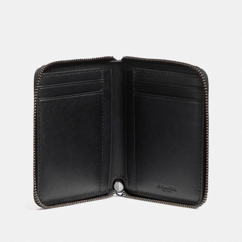 Coach Disney X Coach Small Zip Around Wallet With Spooky Eyes Print Alternate View 1