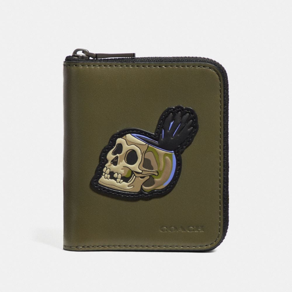 Coach Disney X Coach Small Zip Around Wallet With Skull