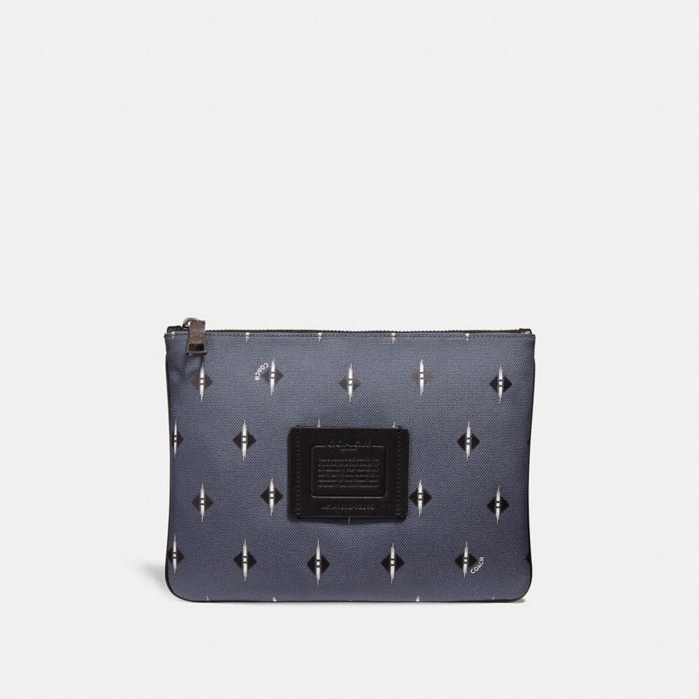 Coach Multifunctional Pouch With Ikat Geo Print