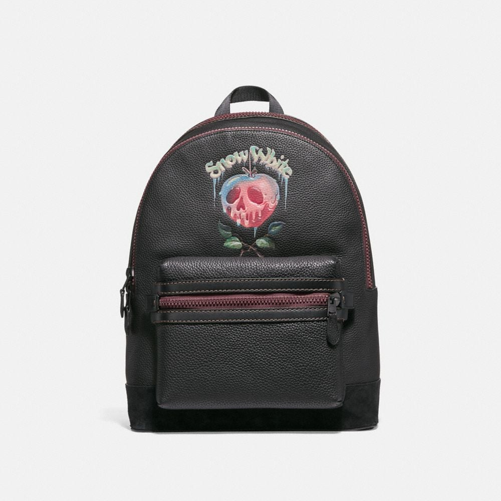 DISNEY X COACH ACADEMY BACKPACK WITH POISON APPLE GRAPHIC
