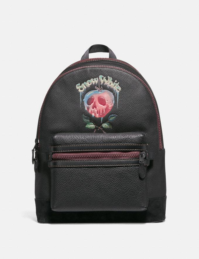 Coach Disney X Coach Academy Backpack With Poison Apple Graphic Black/Matte Black Men Bags Backpacks