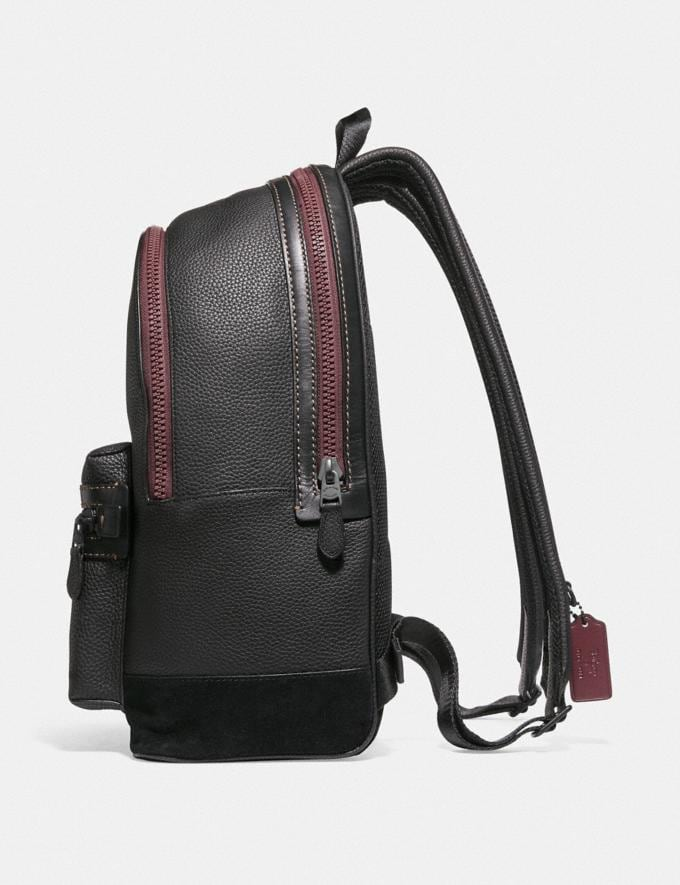 Coach Disney X Coach Academy Backpack With Poison Apple Graphic Black/Matte Black Men Bags Backpacks Alternate View 1