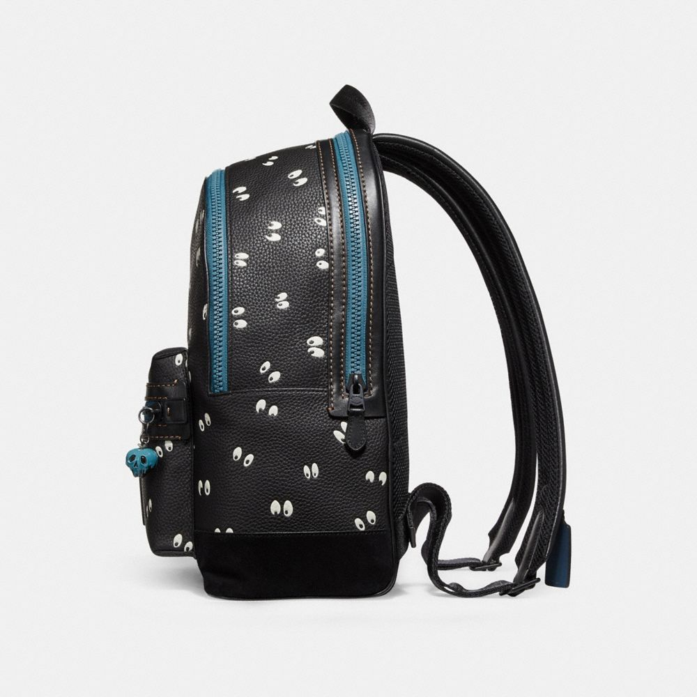 Coach Disney X Coach Academy Backpack With Spooky Eyes Print Alternate View 1