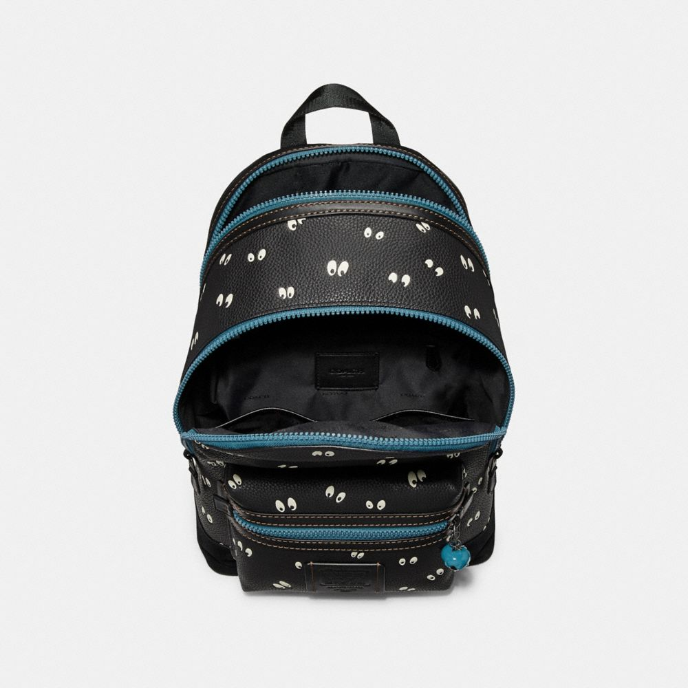 Coach Disney X Coach Academy Backpack With Spooky Eyes Print Alternate View 2