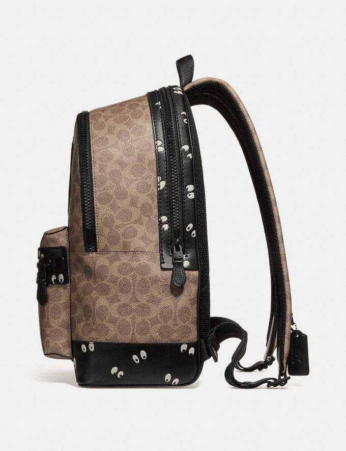 Coach Disney X Coach Academy Backpack in Signature Patchwork Khaki/Matte Black Men Bags Backpacks Alternate View 1