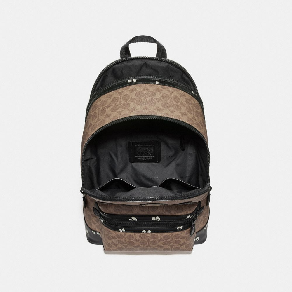Coach Disney X Coach Academy Backpack in Signature Patchwork Alternate View 2