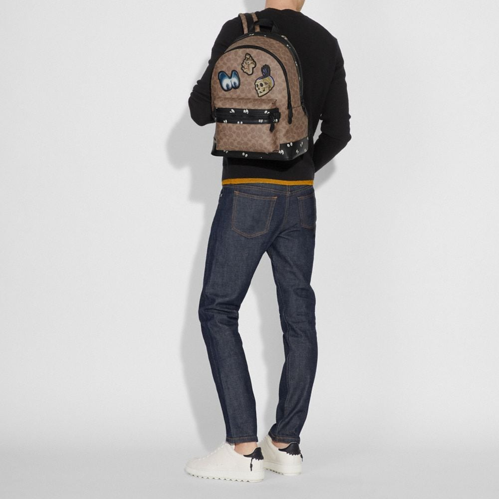 Coach Disney X Coach Academy Backpack in Signature Patchwork Alternate View 3