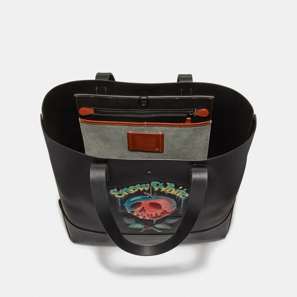 Coach Disney X Coach Gotham Tote With Poison Apple Graphic Alternate View 2