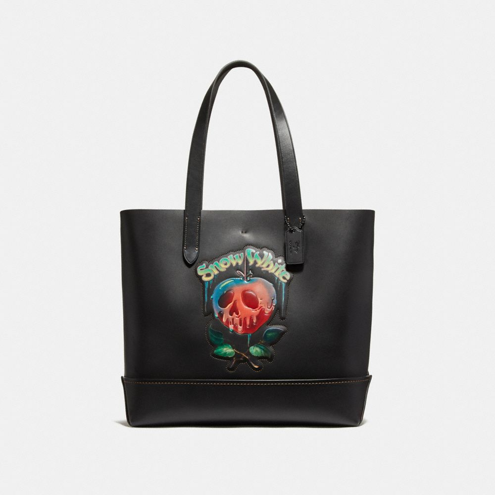 Coach Disney X Coach Gotham Tote With Poison Apple Graphic