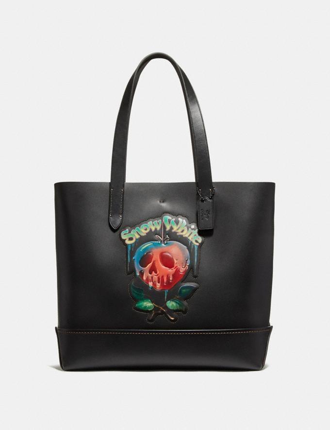 Coach Disney X Coach Gotham Tote With Poison Apple Graphic Black/Matte Black Men Bags Totes & Duffles