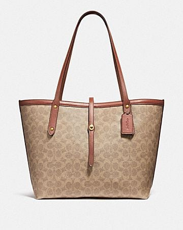 a42a3b2263c MARKET TOTE IN SIGNATURE CANVAS ...