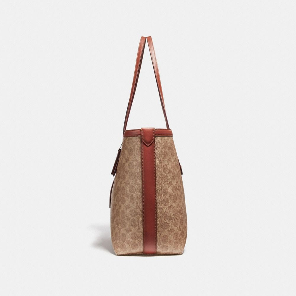 Coach Market Tote in Signature Canvas Alternate View 1