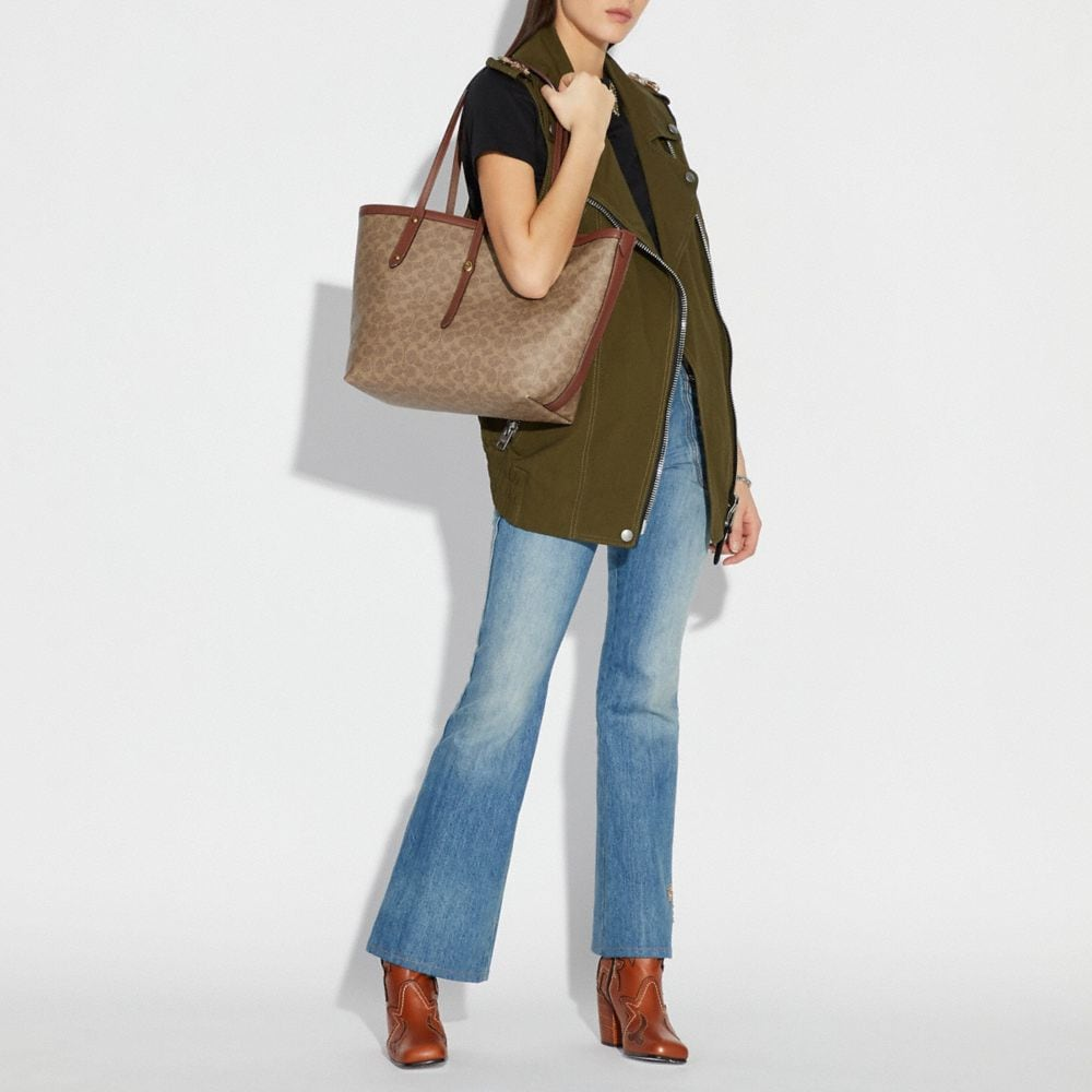 Coach Market Tote in Signature Canvas Alternate View 3