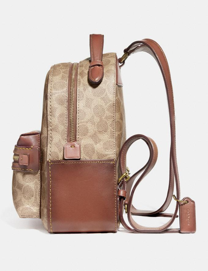 Coach Campus Backpack 23 in Signature Canvas Tan Rust/Brass Women Bags Signature Bags Alternate View 1