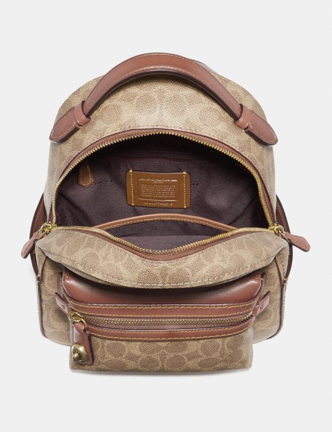 Coach Campus Backpack 23 in Signature Canvas Tan Rust/Brass Men Edits Alternate View 2