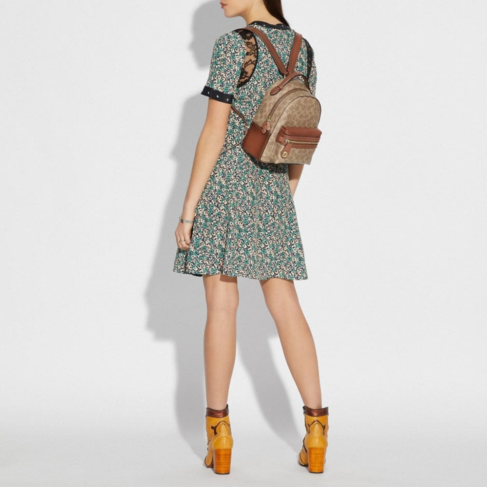 Coach Campus Backpack 23 in Signature Canvas Alternate View 3