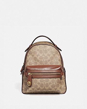 Backpacks - Acadmy Backpack Signature Beige - beige - Backpacks for ladies Coach NLm23v