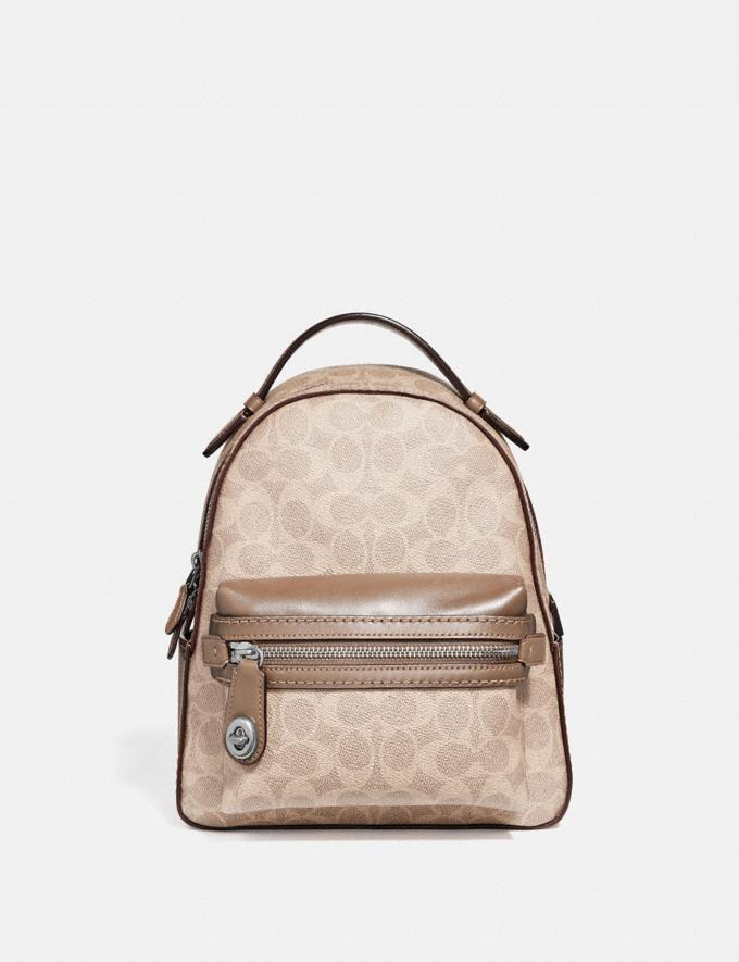 Coach Campus Backpack 23 in Signature Canvas Lh/Sand Taupe SALE Sale Edits New to Sale New to Sale