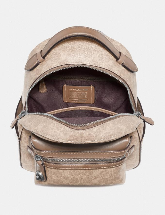 Coach Campus Backpack 23 in Signature Canvas Lh/Sand Taupe SALE Sale Edits New to Sale New to Sale Alternate View 2
