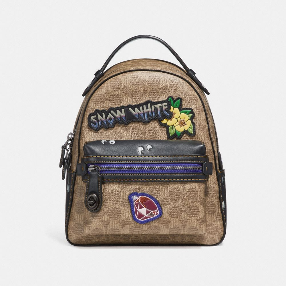 DISNEY X COACH CAMPUS BACKPACK 23 IN SIGNATURE PATCHWORK