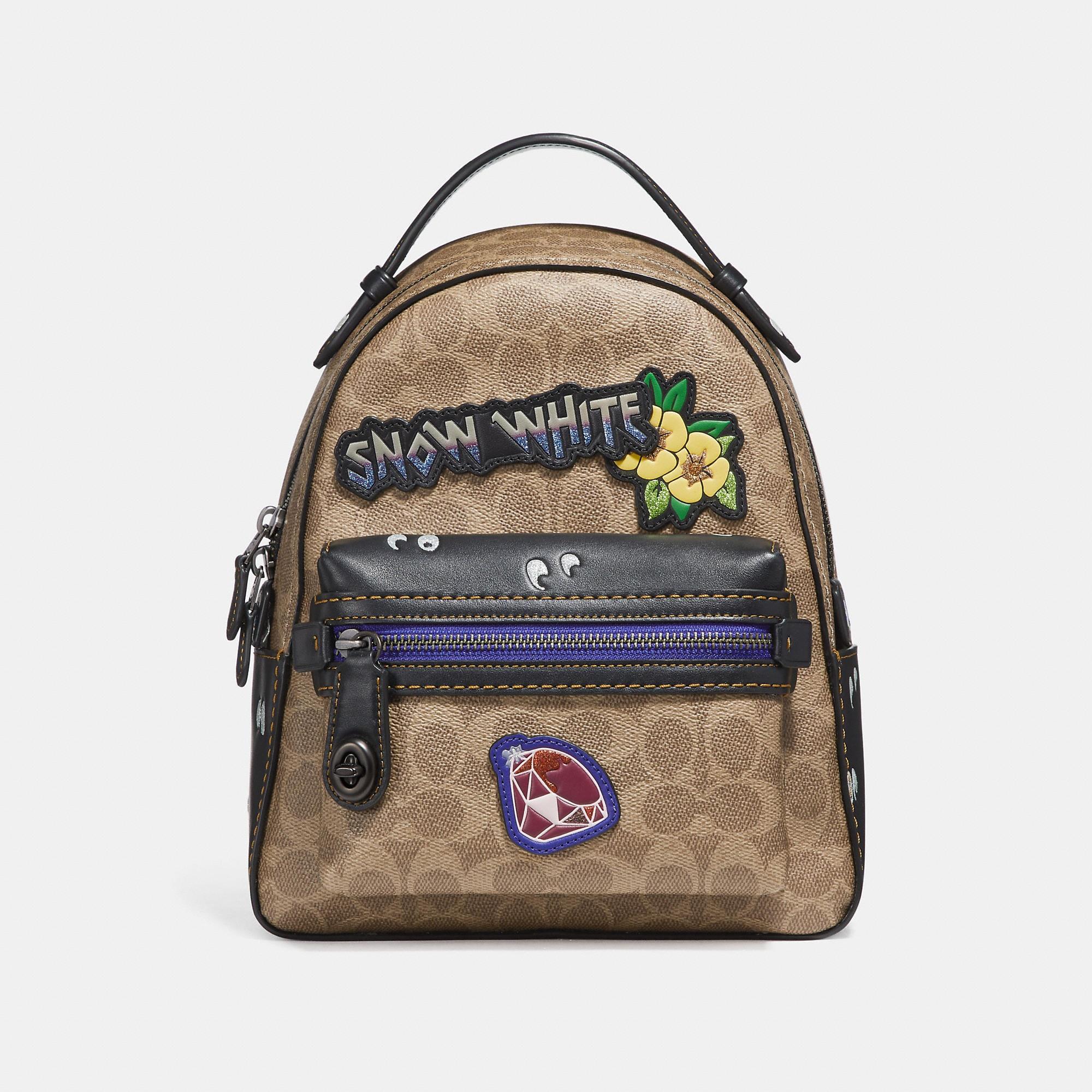 f747df09484 COACH Disney X Campus Backpack 23 In Signature Patchwork - Women S ...