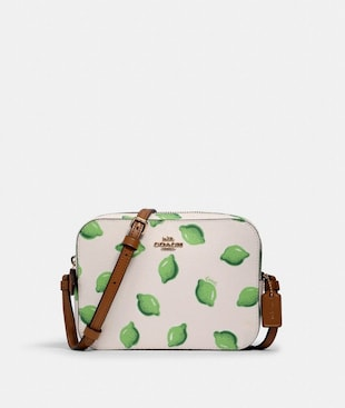 MINI CAMERA BAG WITH LIME PRINT