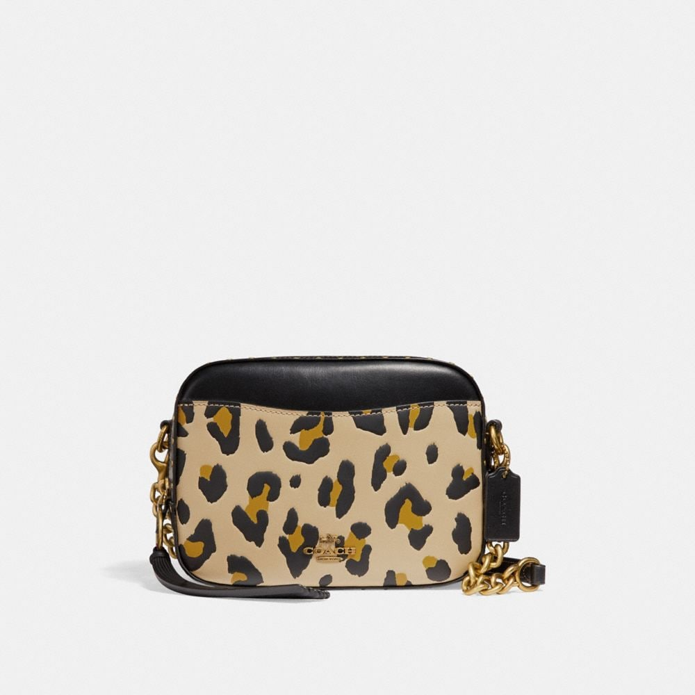 CAMERA BAG WITH LEOPARD PRINT