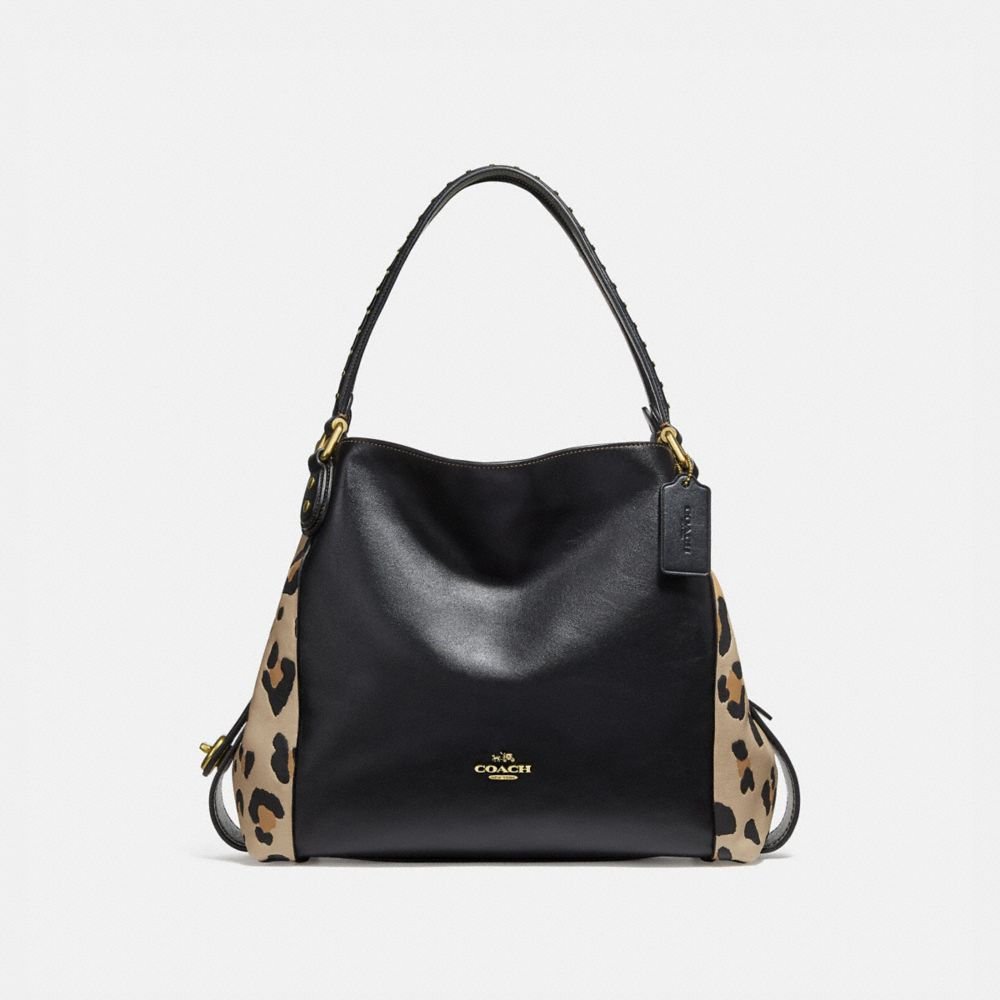 EDIE SHOULDER BAG 31 WITH BLOCKED LEOPARD PRINT