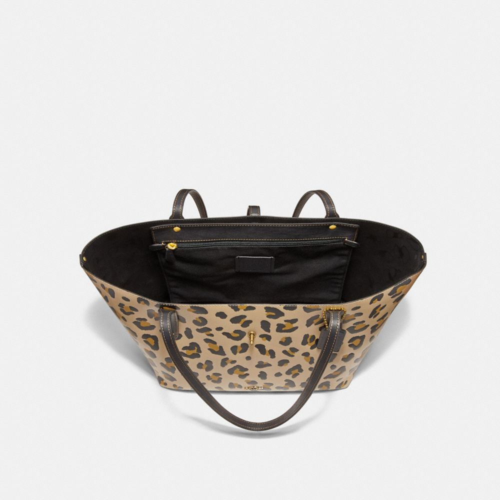 Coach Market Tote With Leopard Print Alternate View 2