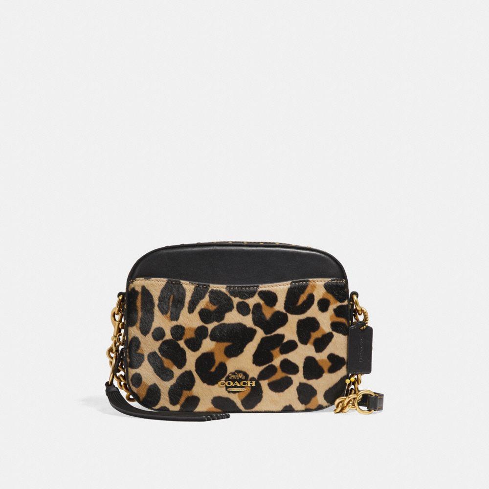 Coach Camera Bag With Leopard Print