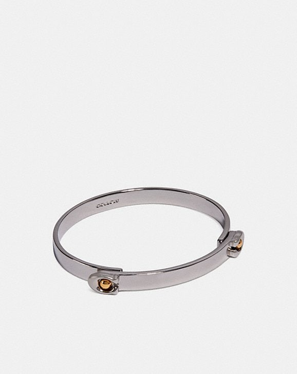 Coach SCULPTED SIGNATURE TENSION HINGED BANGLE