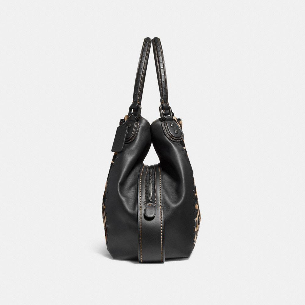Coach Edie Shoulder Bag 42 With Embellished Leopard Print Alternate View 1