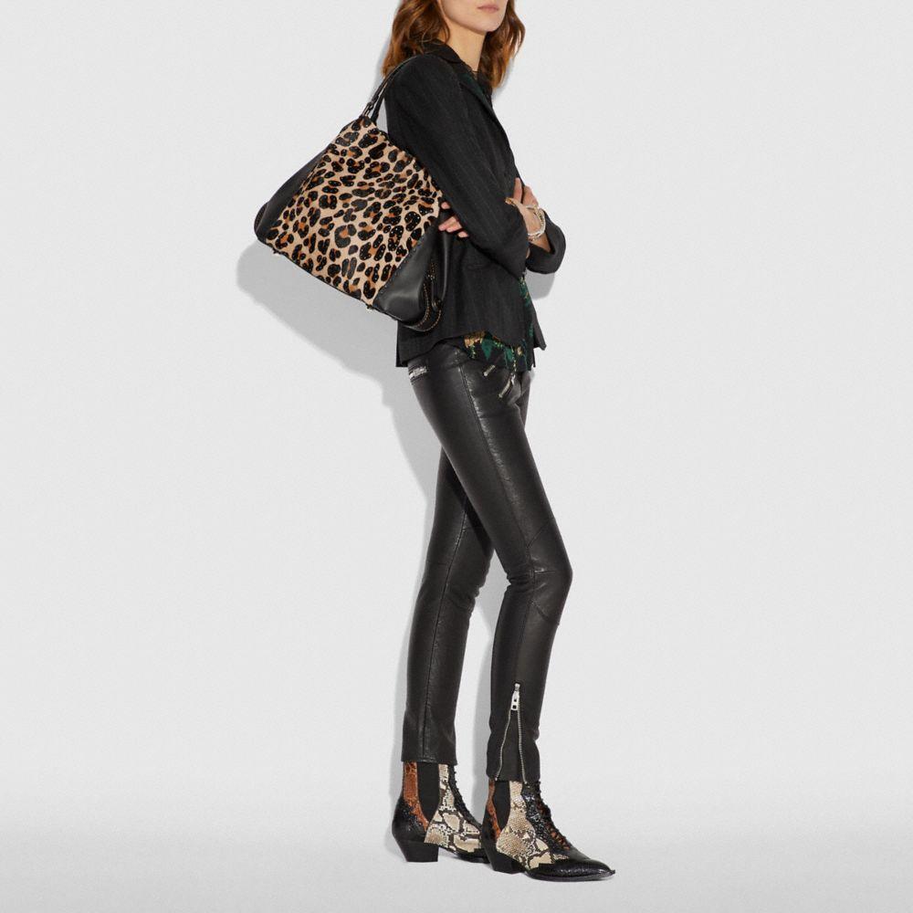 Coach Edie Shoulder Bag 42 With Embellished Leopard Print Alternate View 3