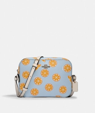 MINI CAMERA BAG WITH ORANGE PRINT