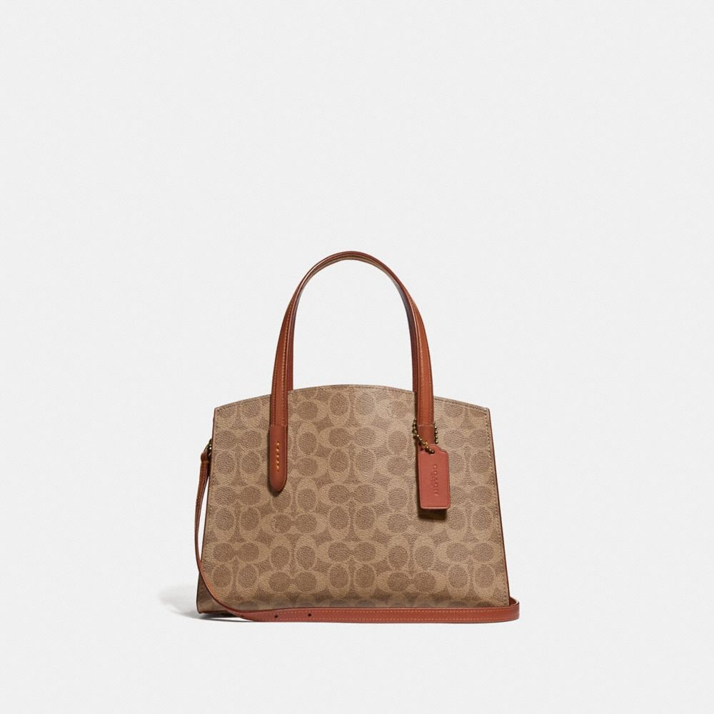 Coach Charlie Carryall 28 in Signature Canvas