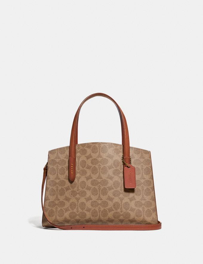 Coach Charlie Carryall 28 in Signature Canvas Brass/Rust Gifts For Her Luxe Gifts