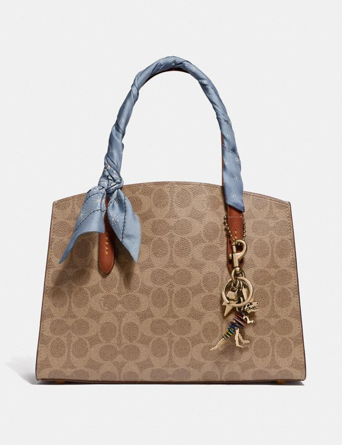 Coach Charlie Carryall 28 in Signature Canvas Brass/Rust Gifts For Her Luxe Gifts Alternate View 3