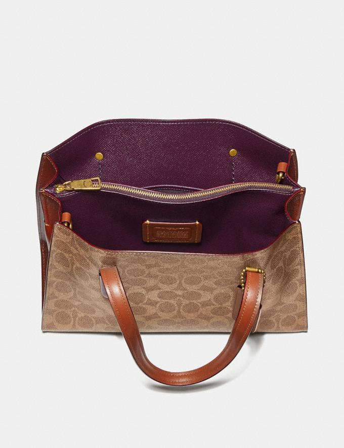 Coach Charlie Carryall 28 in Signature Canvas Brass/Rust Gifts For Her Luxe Gifts Alternate View 2
