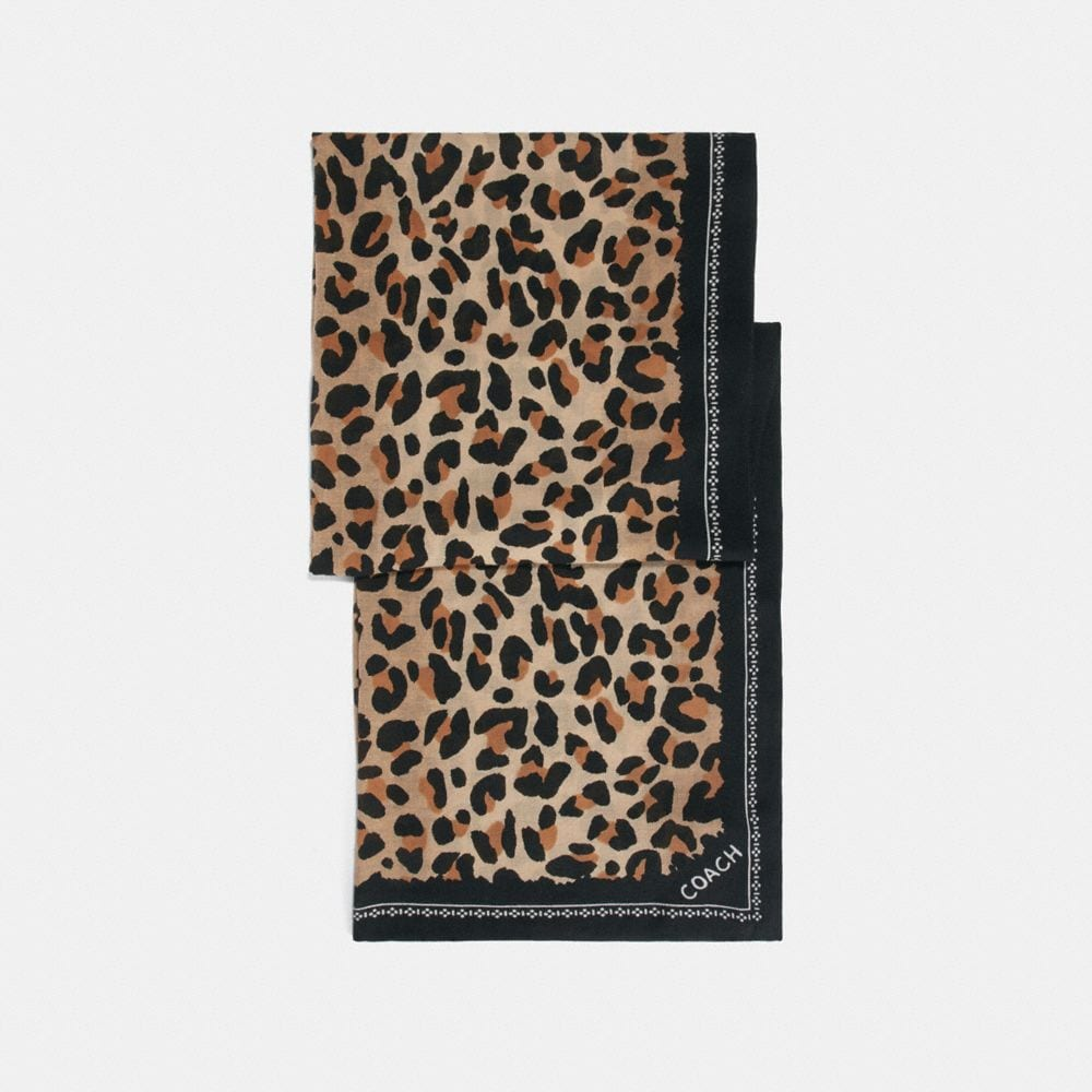 Coach Leopard Print Scarf